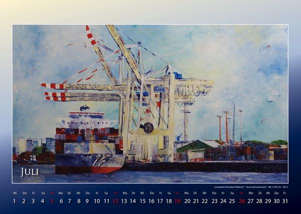Containerhafen Tollerort - Hamburger Hafen - Kalender © Katharina Hansen-Gluschitz