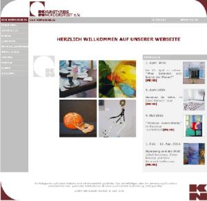 Alte Webseite Kunstkreis-Norderstedt - © Katharina Hansen-Gluschitz