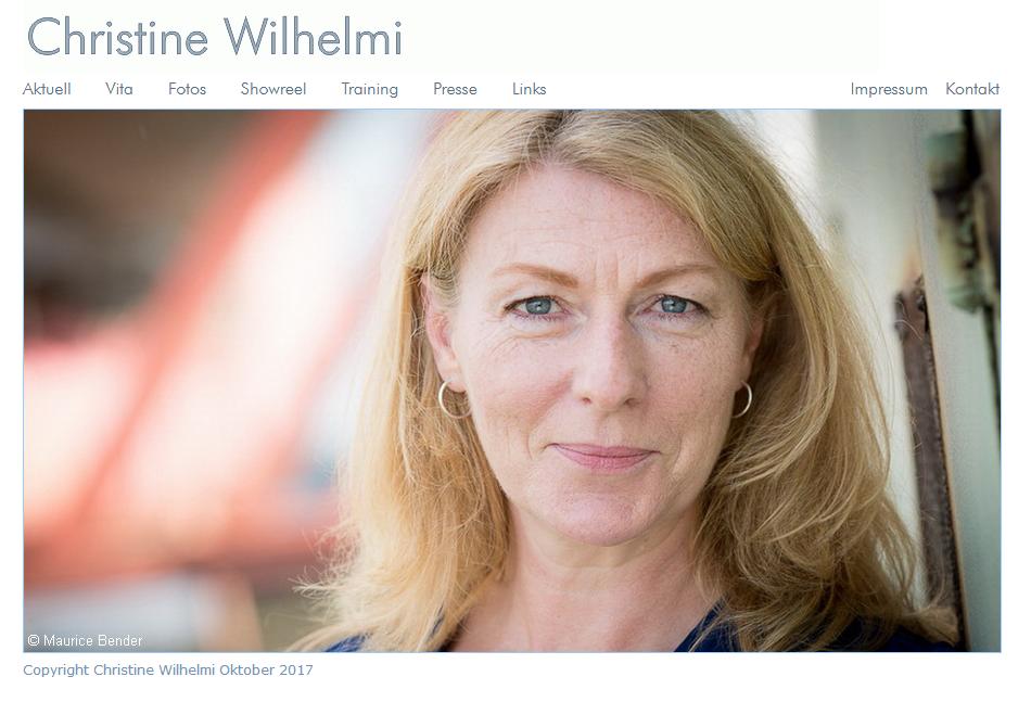 Webseite - www.christinewilhelmi.de © Katharina Hansen-Gluschitz