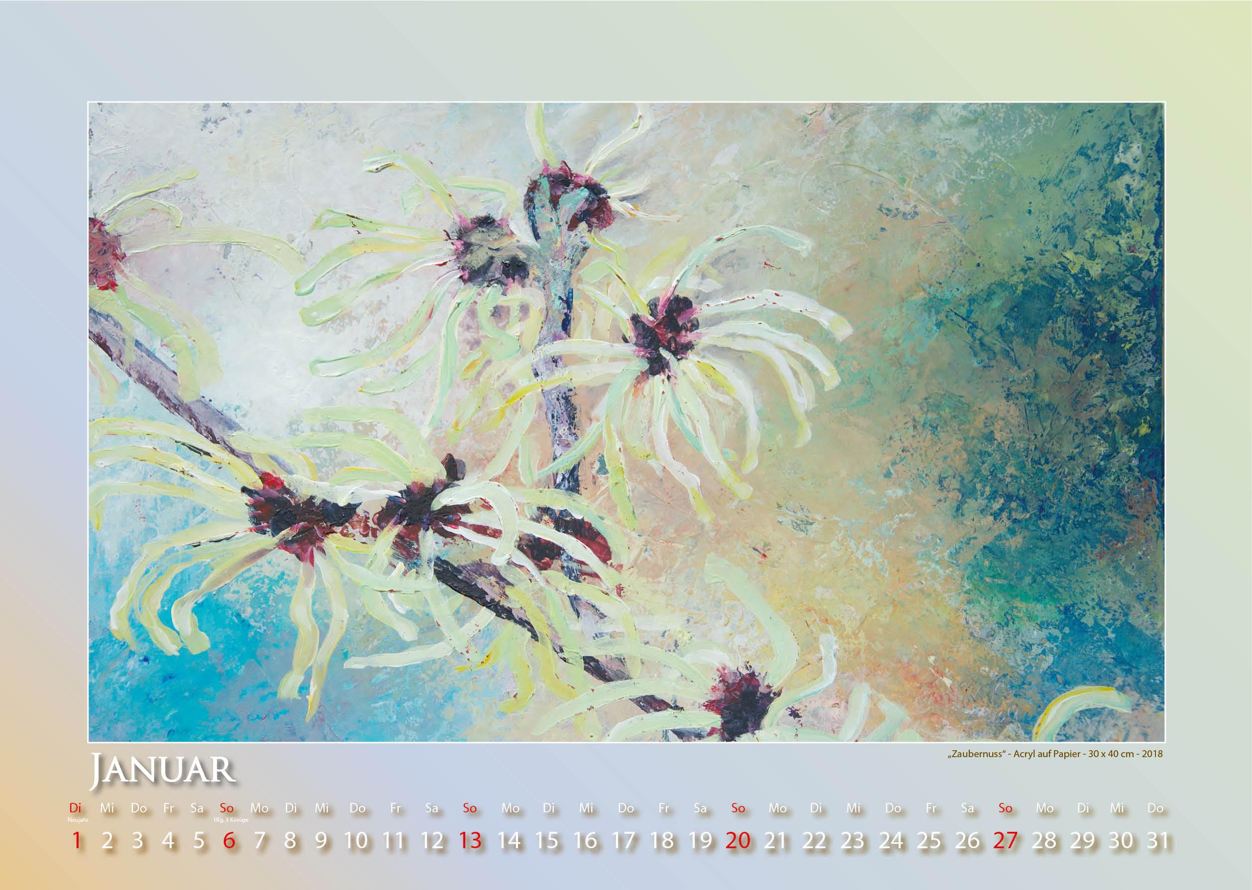 Dein Blumenjahr - 2019 - Kalender - Foto und Design: © Katharina Hansen-Gluschitz