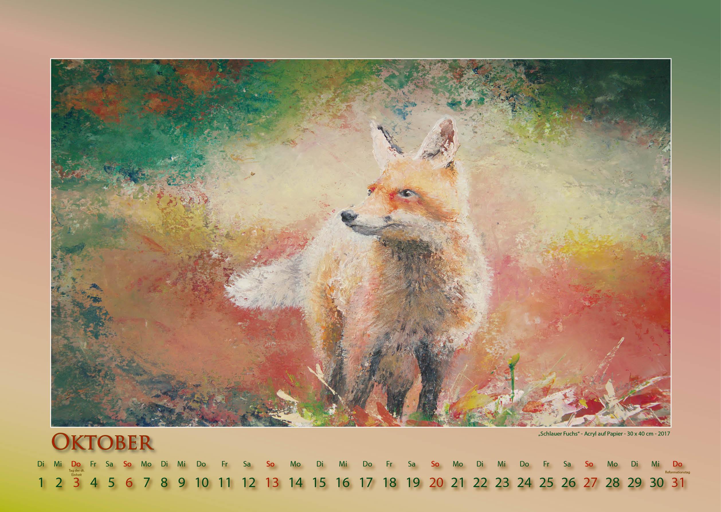 Tierische Einsichten - 2019 - Kalender - Foto und Design: © Katharina Hansen-Gluschitz