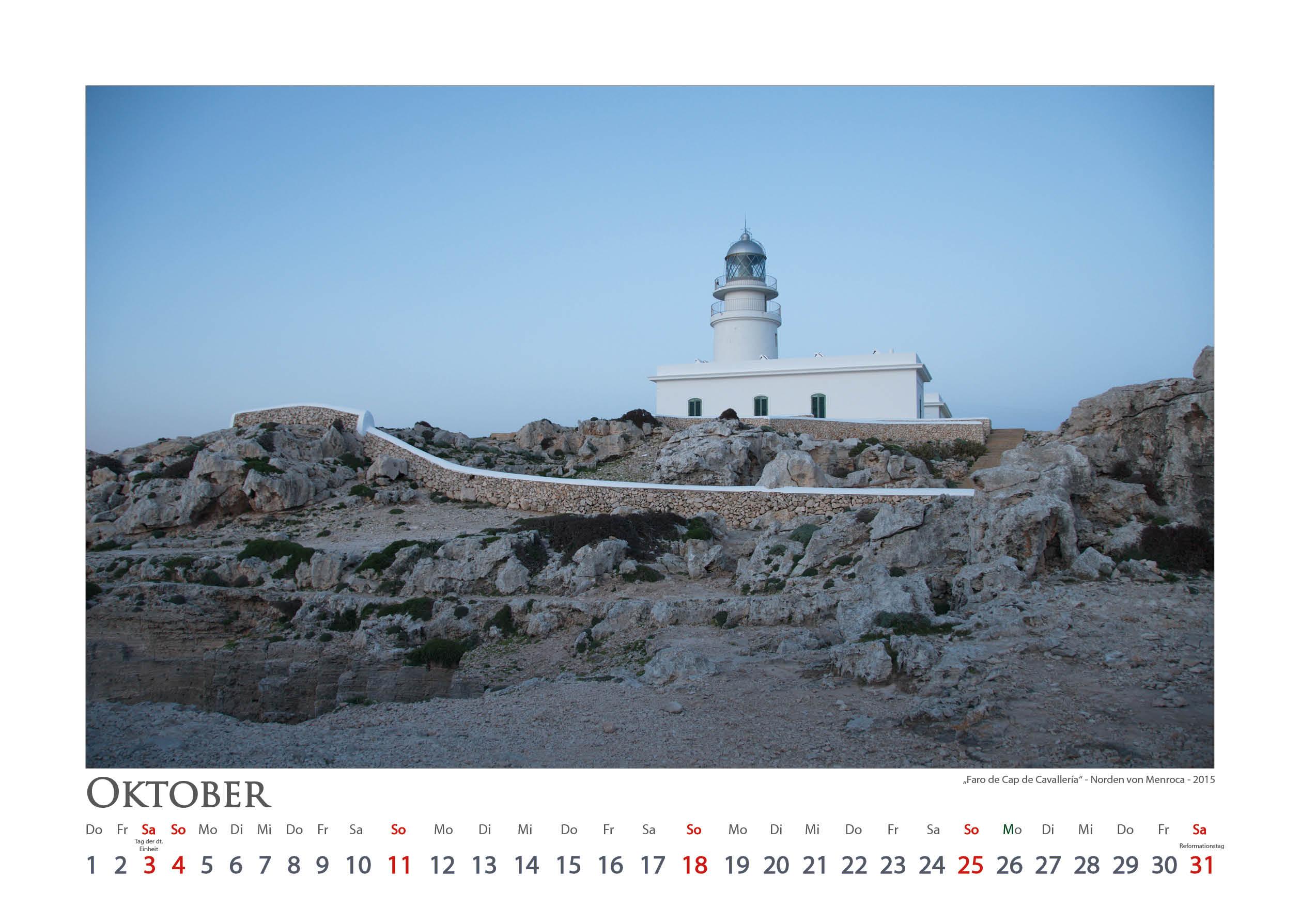 Faro Cap Cavalleria - Leuchttürme - Kalender 2020 © Katharina Hansen-Gluschitz