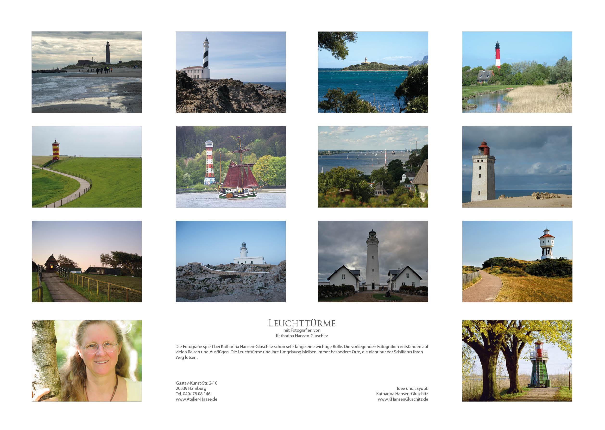 Übersicht - Leuchttürme - Kalender 2020 © Katharina Hansen-Gluschitz