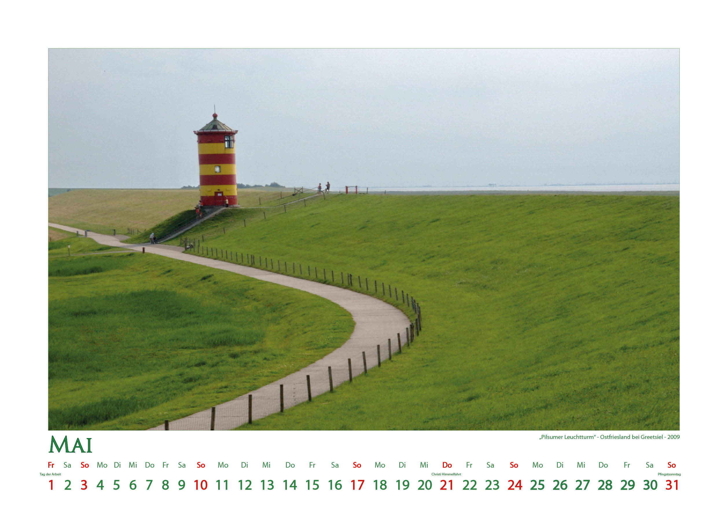 Pilsumer Leuchtturm - Leuchttürme - Kalender 2020 © Katharina Hansen-Gluschitz