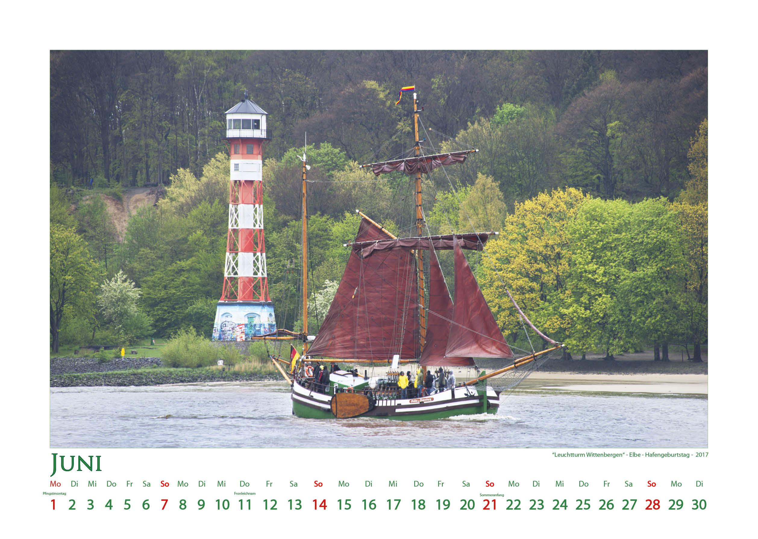 Leuchtturm Wittenbergen - Leuchttürme - Kalender 2020 © Katharina Hansen-Gluschitz