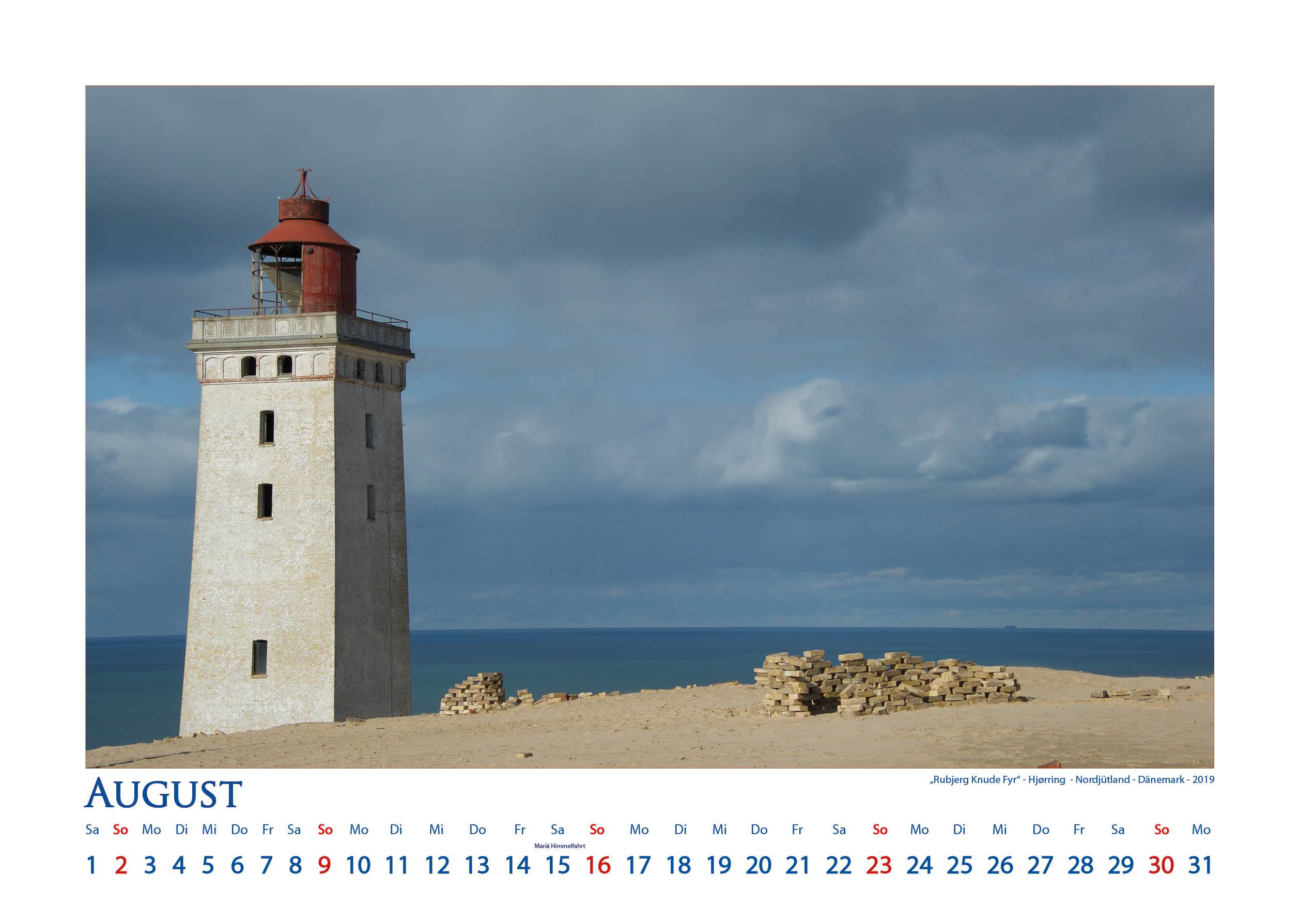 Rubjerg Fyr - Leuchttürme - Kalender 2020 © Katharina Hansen-Gluschitz