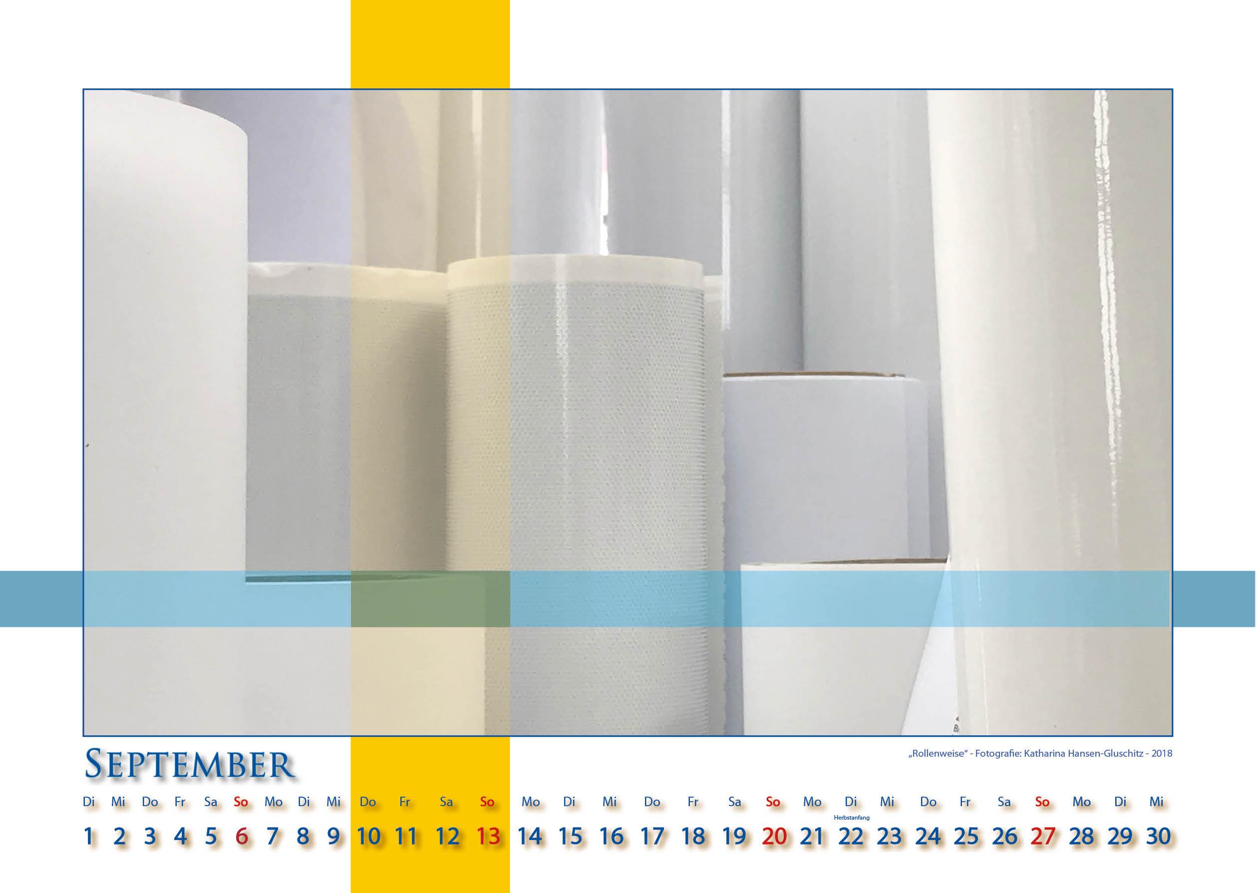 Rollenweise - Strukturen - Kalender 2020 © Katharina Hansen-Gluschitz