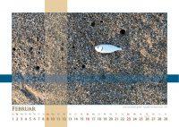 Gestrandet und doch gerettet - Strukturen - Kalender 2020 © Katharina Hansen-Gluschitz
