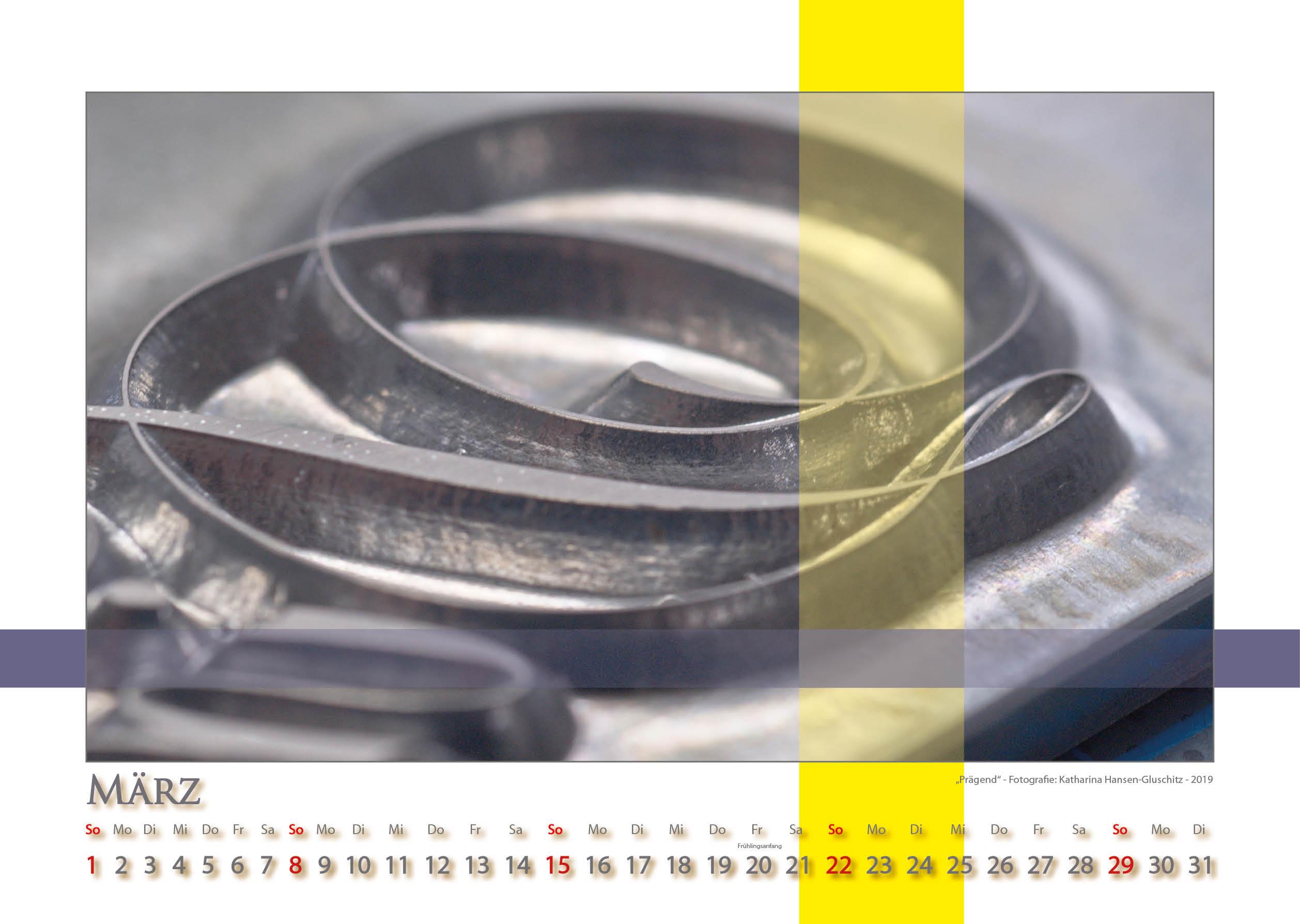 Prägend - Strukturen - Kalender 2020 © Katharina Hansen-Gluschitz