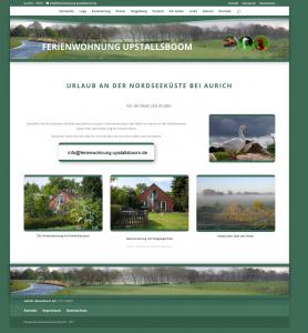 Webseite - www.Ferienwohnung-Upstallsboom.de - Design © Katharina Hansen-Gluschitz
