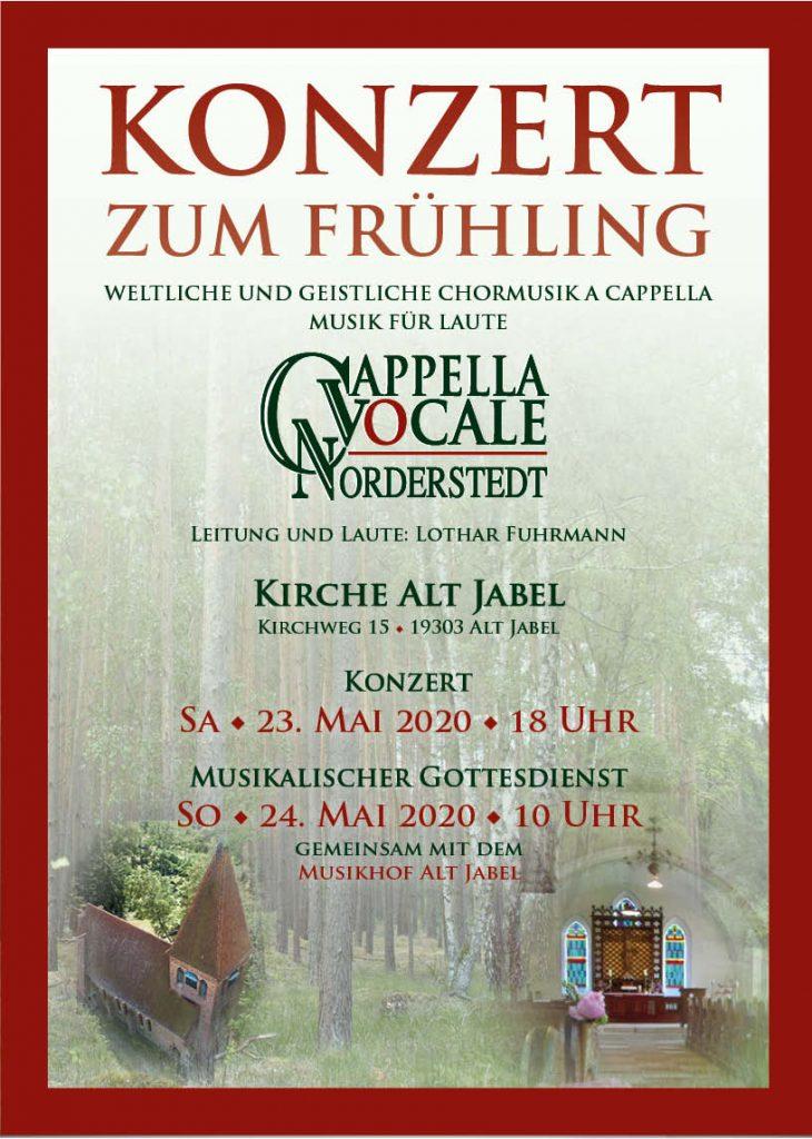 Konzert - Plakat Cappella Vocale Norderstedt - Layout: Katharina Hansen-Gluschitz
