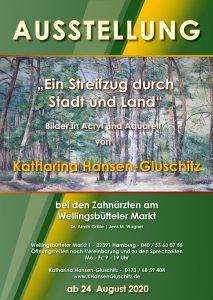 Ausstellung - Plakat Ein Streifzug durch Stadt und Land ©: Katharina Hansen-Gluschitz
