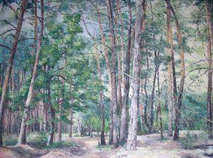 Waldspaziergang - Acryl auf Leinwand - 100 x 140 cm ©: Katharina Hansen-Gluschitz