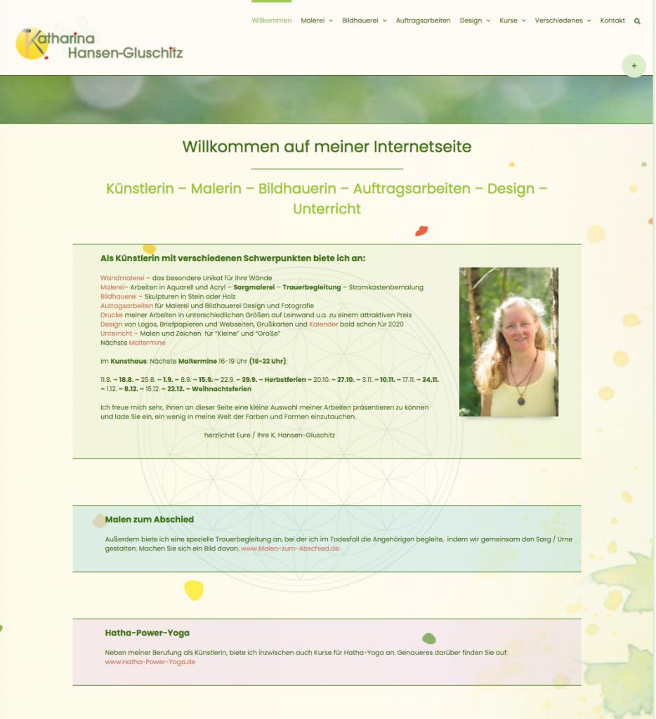 eigene Webseite - Katharina Hansen-Gluschitz
