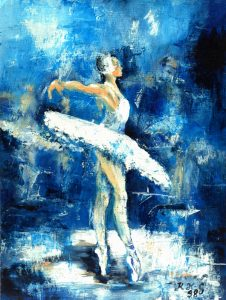 Prima Ballerina - Acryl auf Papier ©: Katharina Hansen-Gluschitz