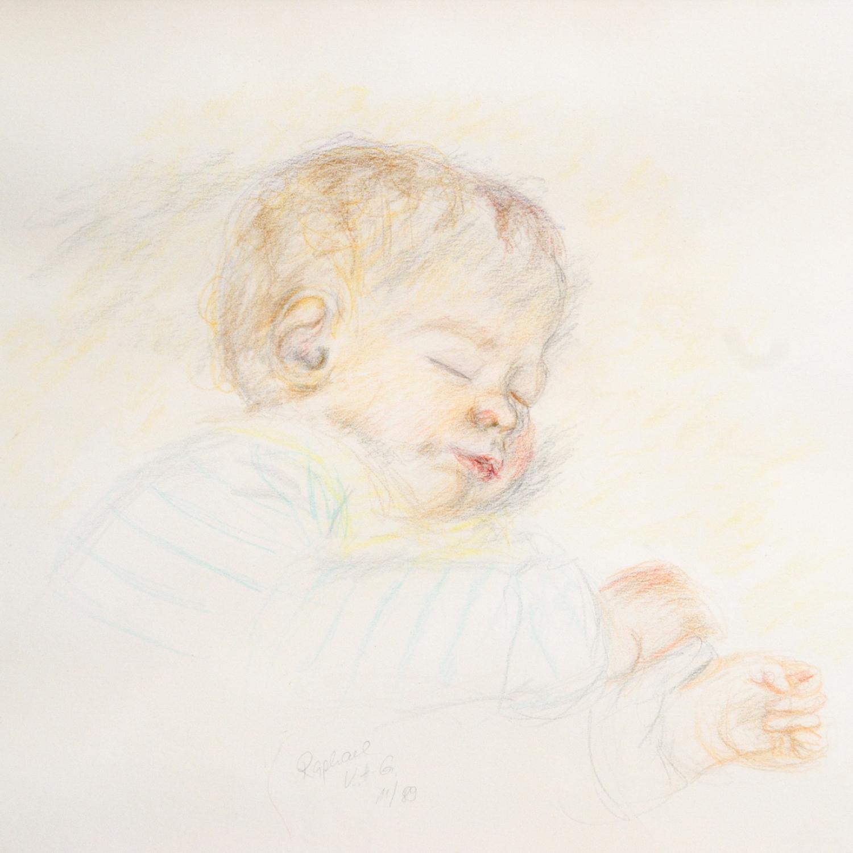 David - Zeichnung - Babyportrait ©: Katharina Hansen-Gluschitz