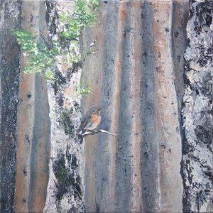 Klingender Wald - Malerei Acryl auf Leinwand - Foto und Bild ©: Katharina Hansen-Gluschitz