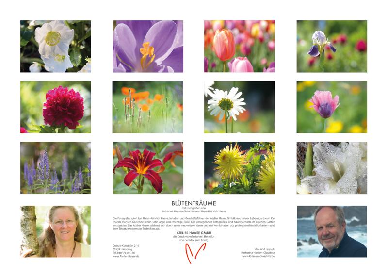Blütenträume 2021 - Kalender Übersicht © Katharina Hansen-Gluschitz