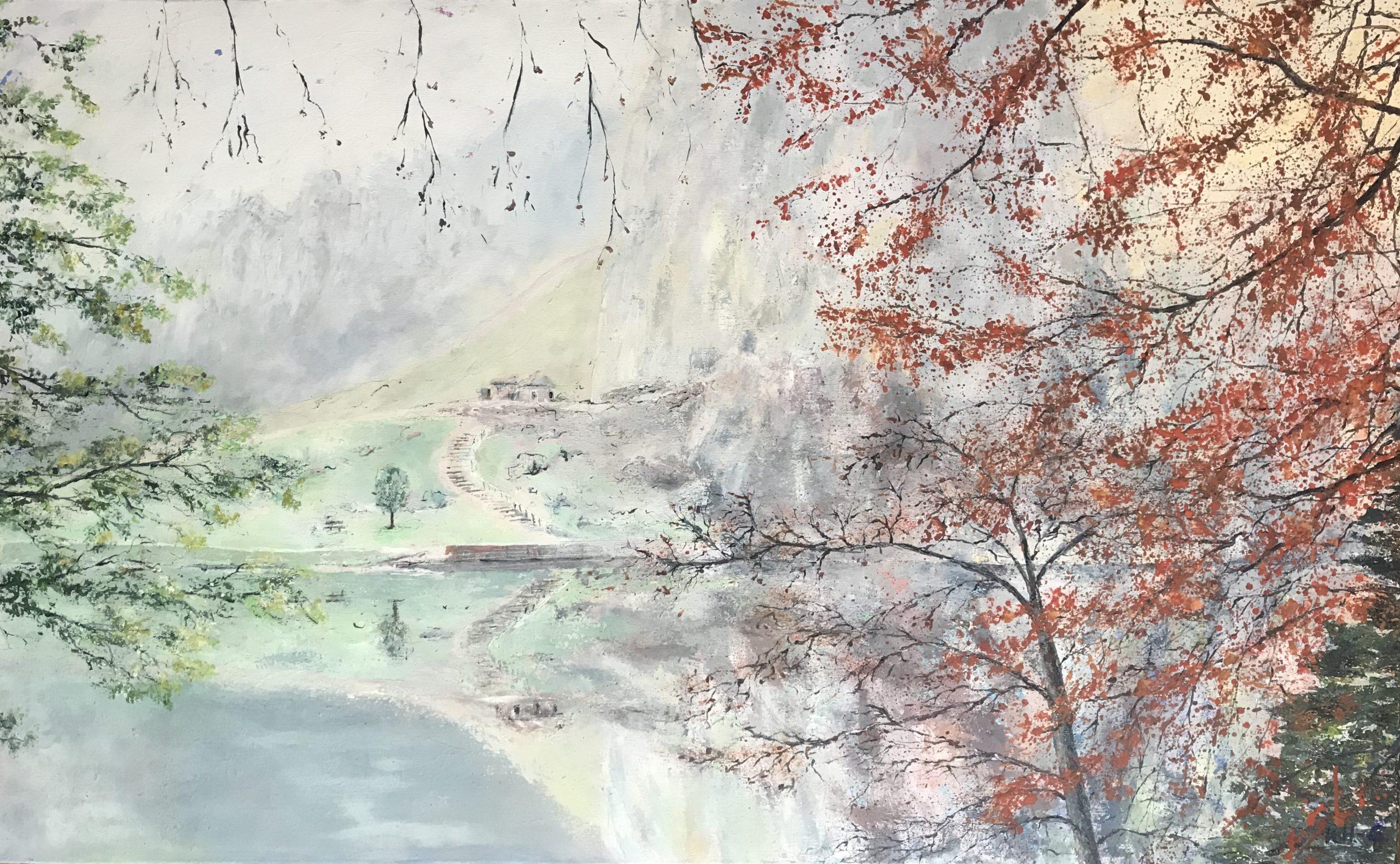 Mystische Externsteine - Acryl auf Leinwand - 80 x 130 cm © Katharina Hansen-Gluschitz