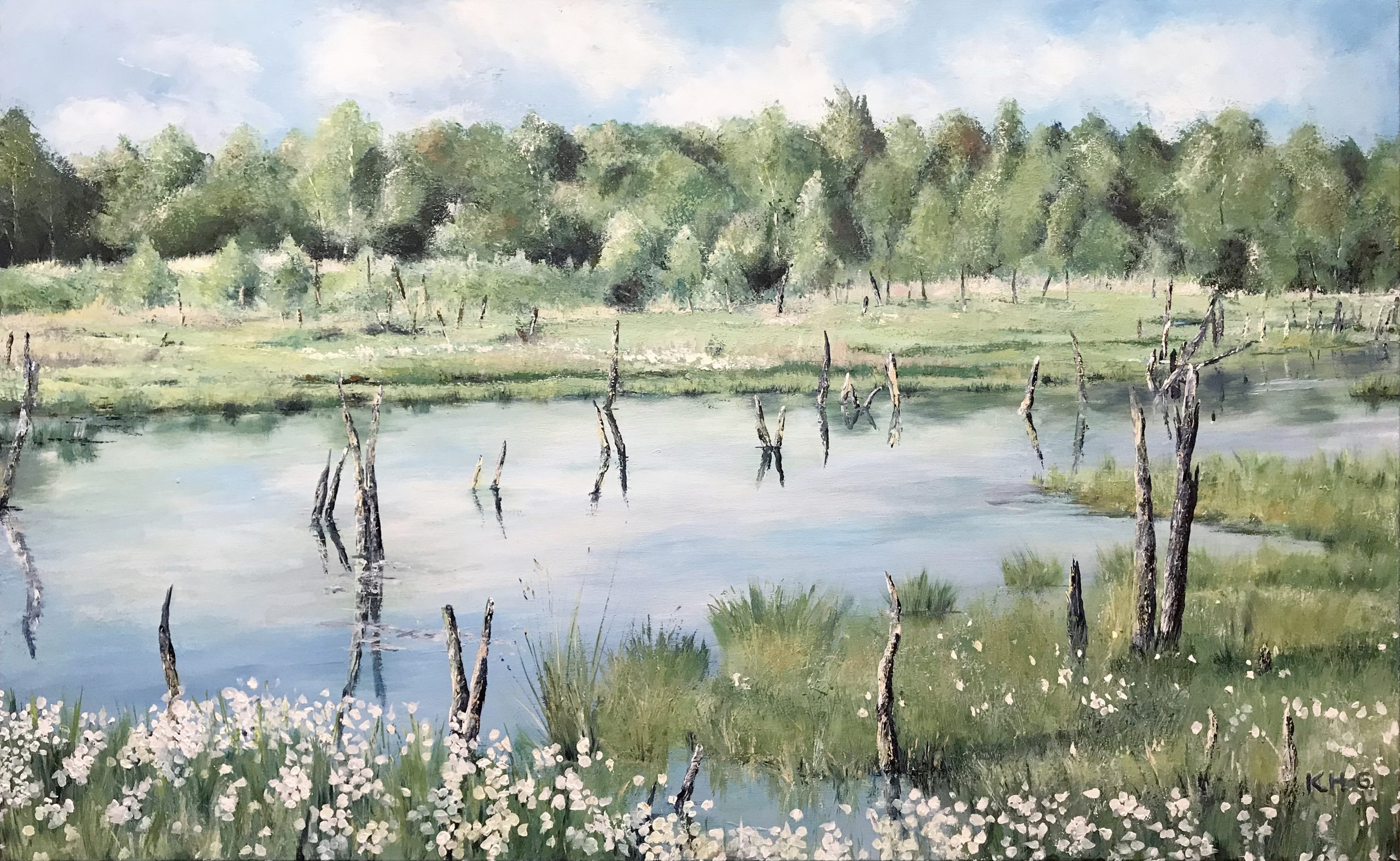 Das Wittmoor - Acryl auf Leinwand - 80 x 130 cm © Katharina Hansen-Gluschitz