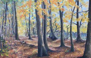Zauber des Herbstwaldes - Acryl auf Leinwand - 80 x 130 cm © Katharina Hansen-Gluschitz