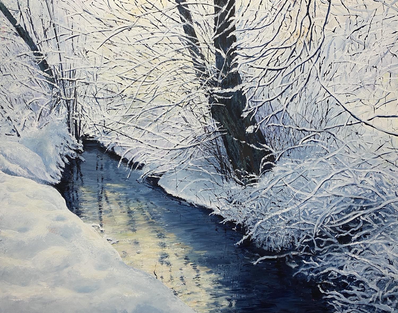 Der Winter ist wieder da - Acryl auf Leinwand - 80 x 100 cm - © Katharina Hansen-Gluschitz