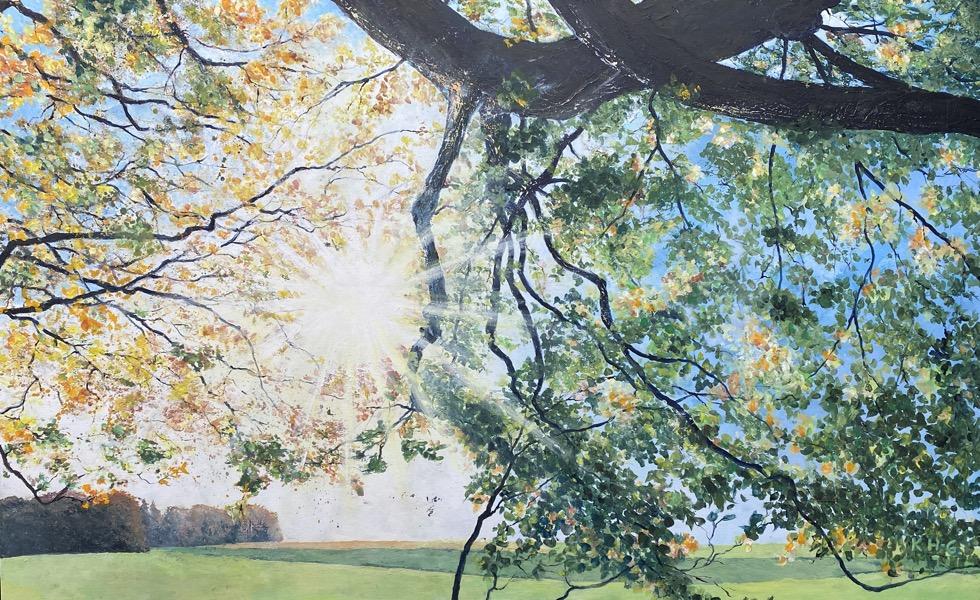 Lichtspiel - Acryl auf Leinwand - 80 x 130 cm - © Katharina Hansen-Gluschitz