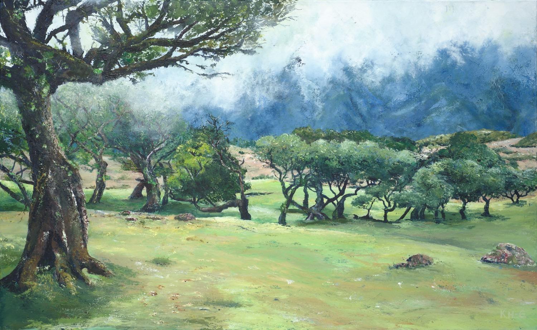Im Feenwald auf Madeira - Acryl auf Leinwand - 80 x 130 cm - © Katharina Hansen-Gluschitz
