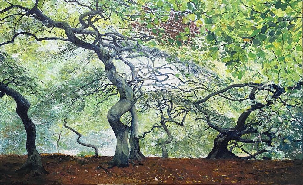 Im Hexenwald auf Rügen - Acryl auf Leinwand - 80 x 130 cm - © Katharina Hansen-Gluschitz